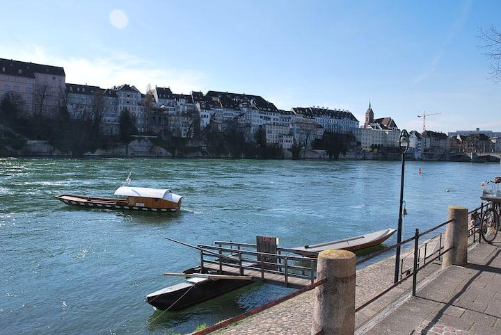 """Direkt am Rhein: 1,5 Zi. App. """"Blue Lounge"""""""