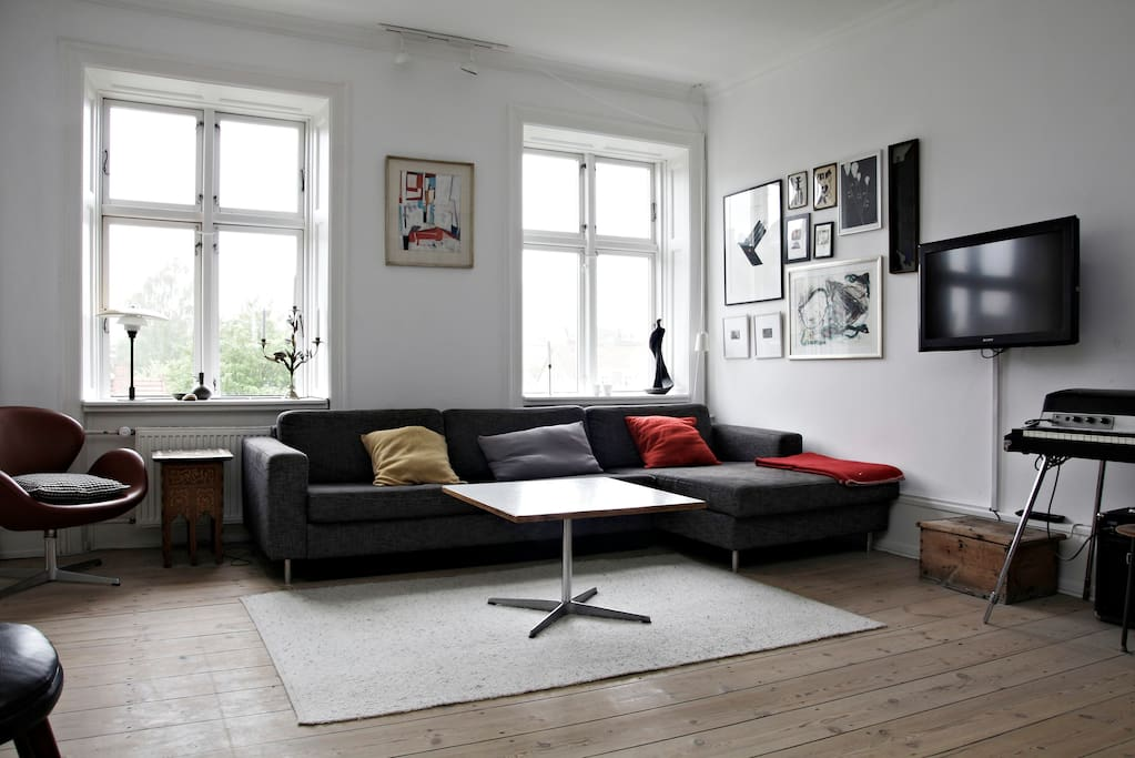 Livingroom with fould out sofabed
