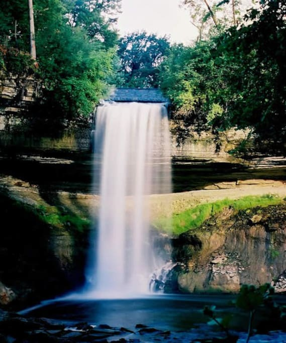 Our house is in walking distance from beautiful Minnehaha Falls