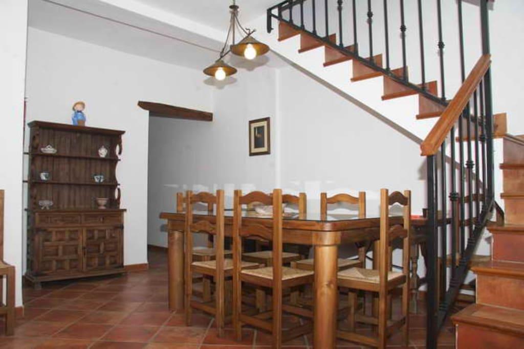 Escalera interior de la Casa del Parque