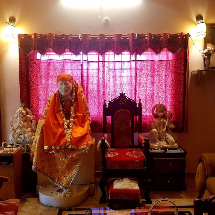 Spiritual-Peaceful,2 bed,Near Ashram,Lap of Nature