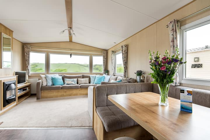 Beautiful caravan at Widemouth Bay near Bude.