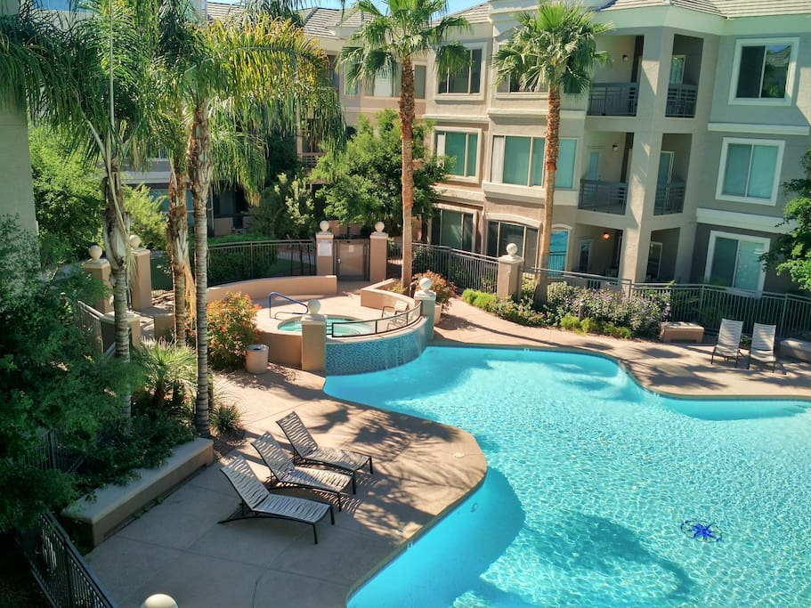 2bed 2bath downtown tempe condo great view pool for Tempe swimming pool