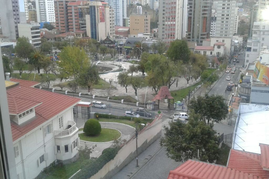 nice view of the Park and part of the City from the apartment