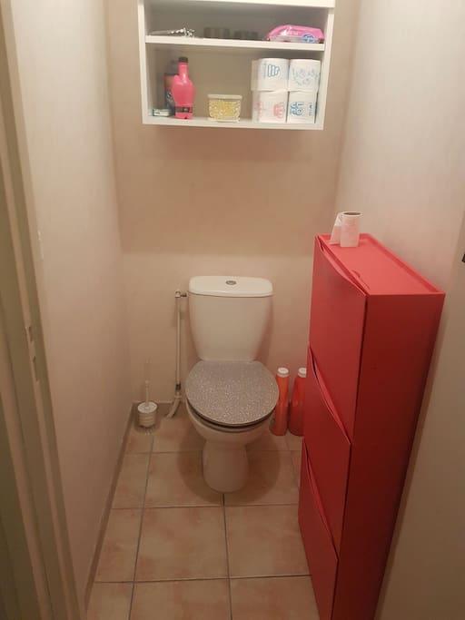 Toilettes à paillettes