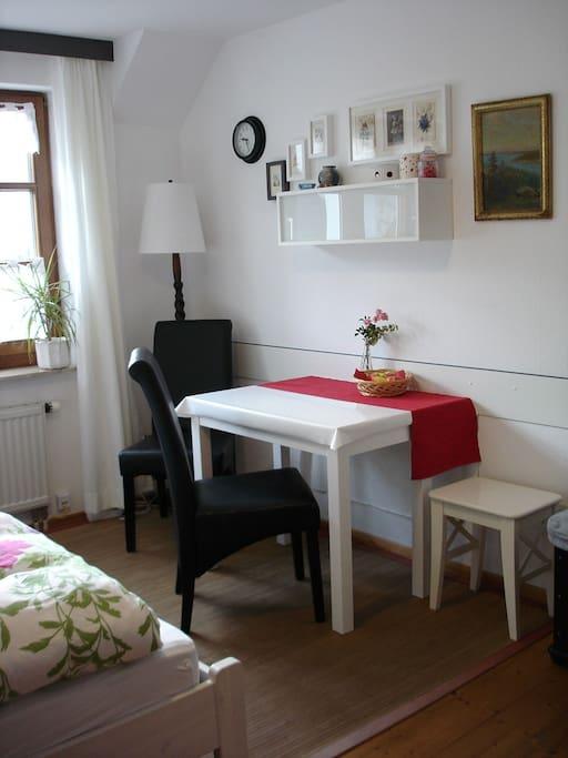 Sitting area in bedroom