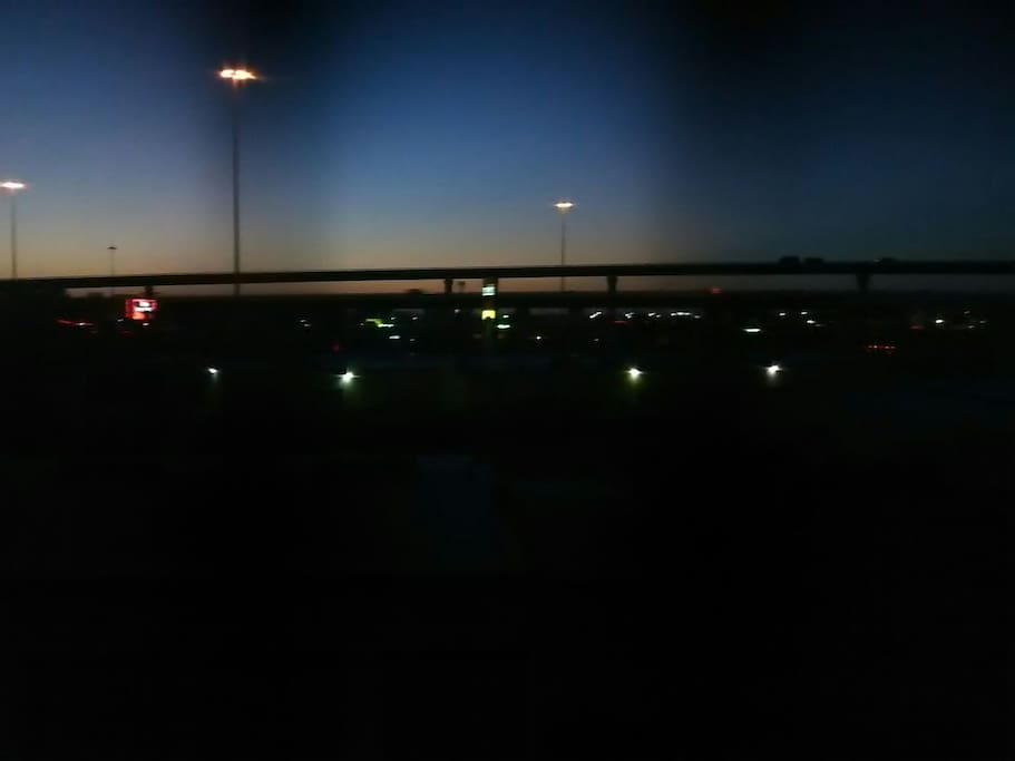 Sunset out my windows