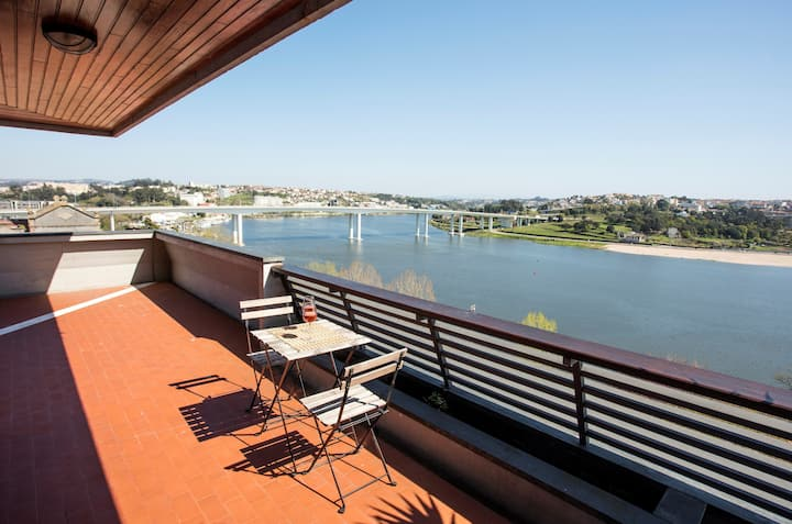 River View apartment with parking