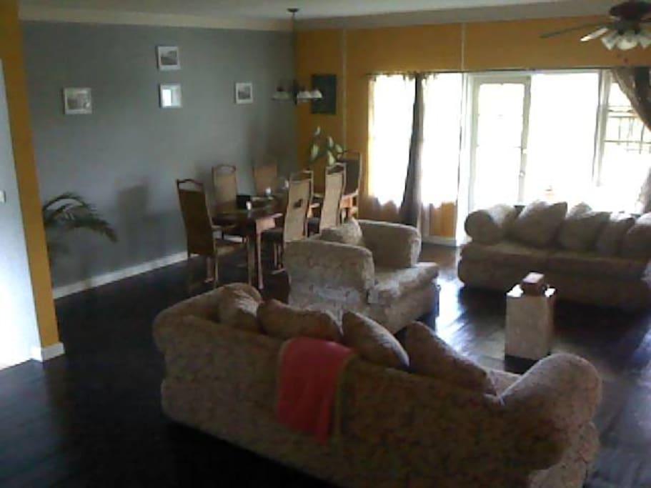 living room is next to indoor Plunge pool