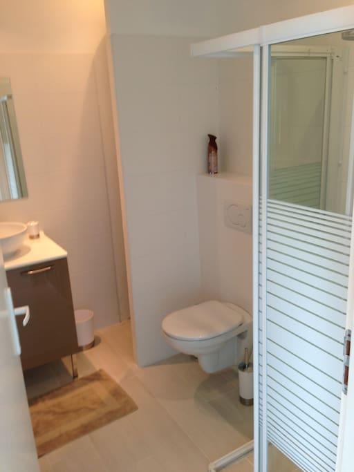 salle de bain entièrement refaite