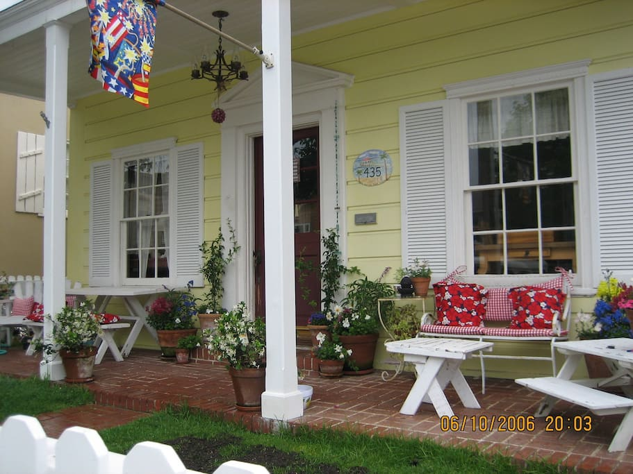 great front porch for reading, relaxing or dining
