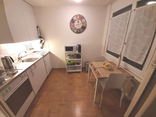 Kitchen with panorama view