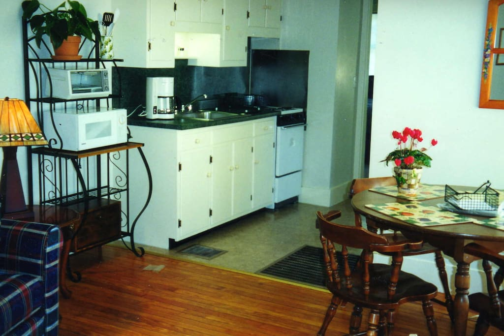 Good Harbor House 1bedroom apartment. Partial view of kitchen and dining area.