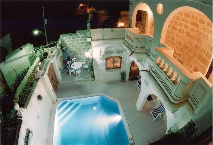 Gozo F/house in Xaghra, Pool & AC - Xagħra - House