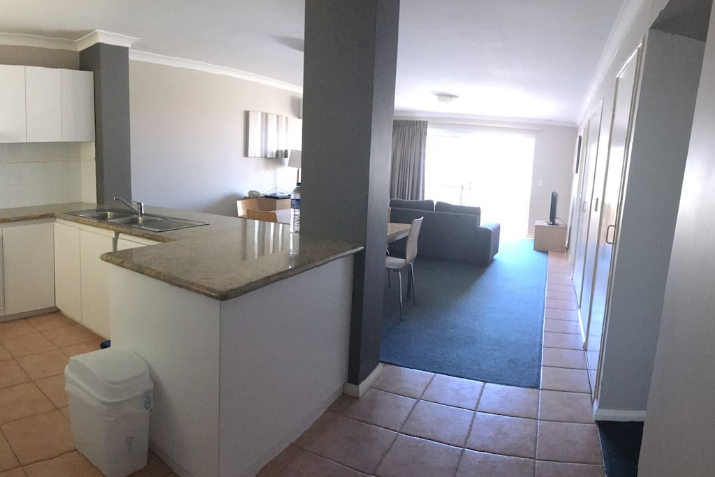 Kitchen, Dining, Living plus 3 bedrooms 2 bathrooms and balcony = 130sq2 living area