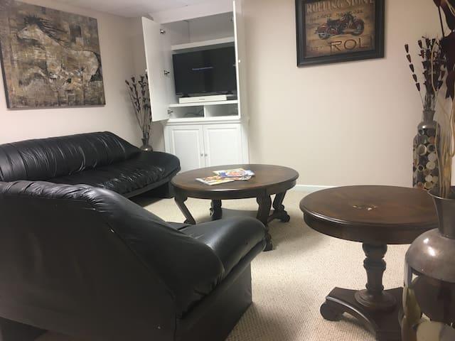 cozy basement suite w/ garage entrance
