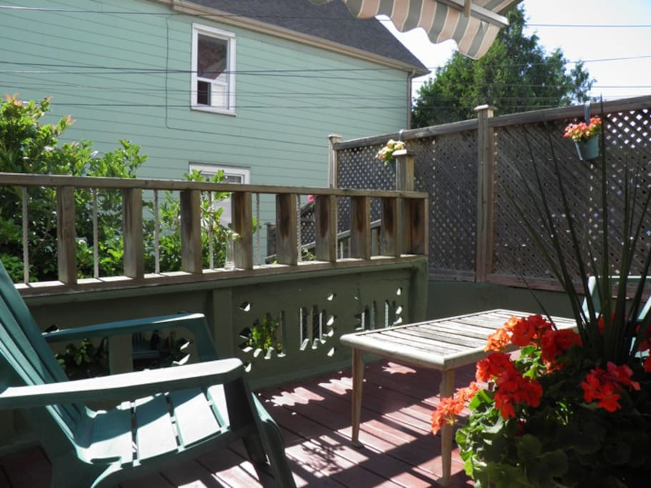 Large deck outside kitchen to enjoy a morning coffee or glass of wine at the end of the day.