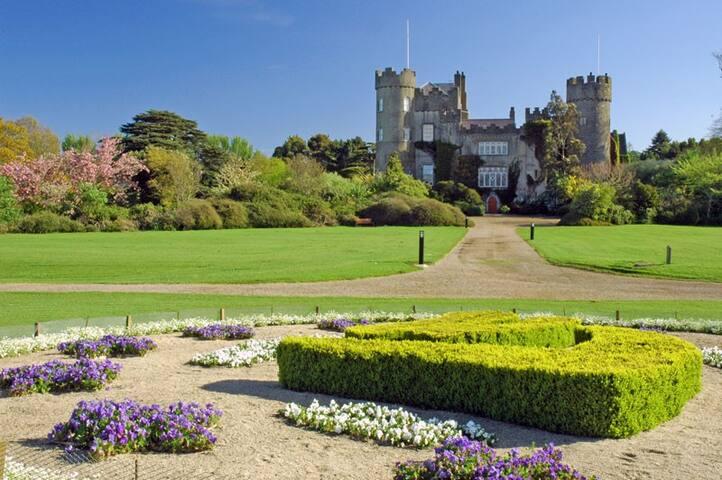 Malahide Castle grounds.