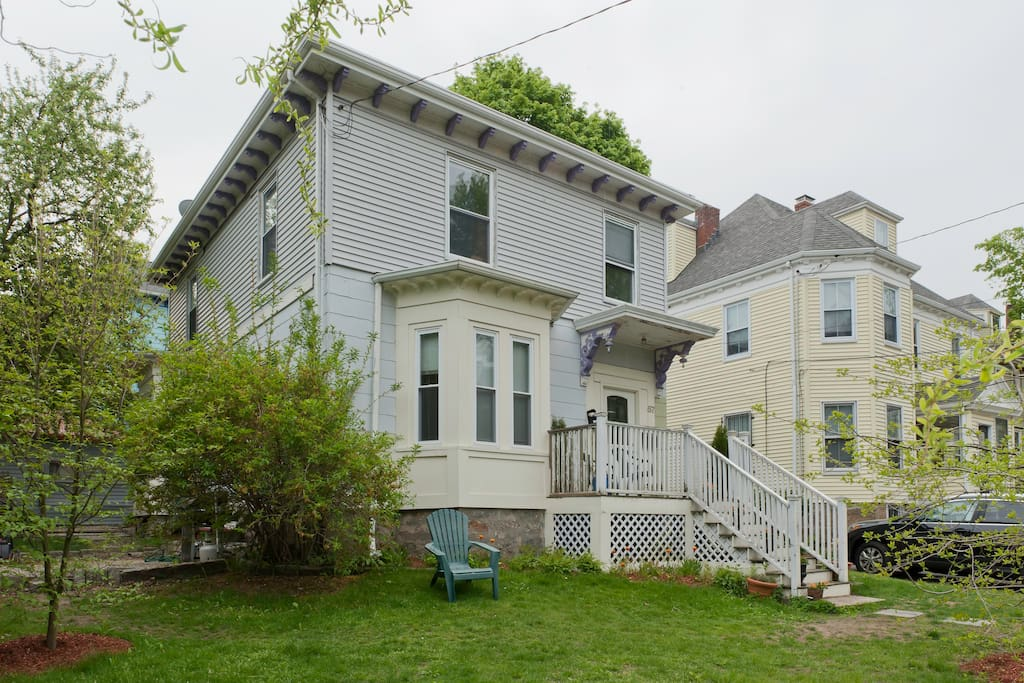 Our 1868 Victorian home nestled in an active but quiet neighborhood.