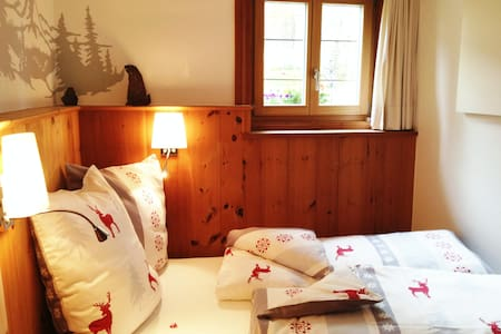 Pinewood room in Engadine House - Bed & Breakfast