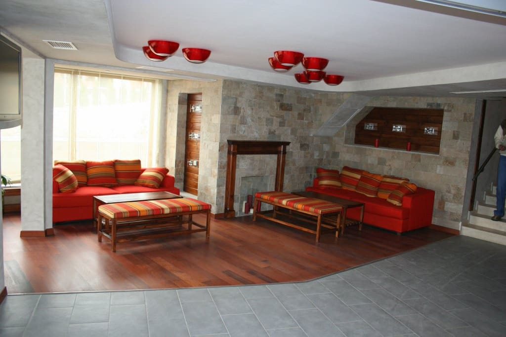 The Pirin Lodge lobby area...