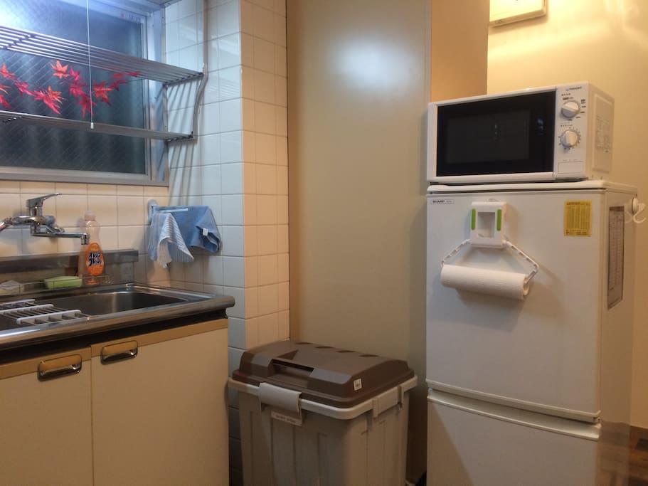 Fridge & Microwave Oven