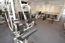 Okay, you're supposed to be relaxing on your vaca but if you insist, there are two gym areas located in the clubhouse by the pool.  Run on the treadmill or pump some iron!