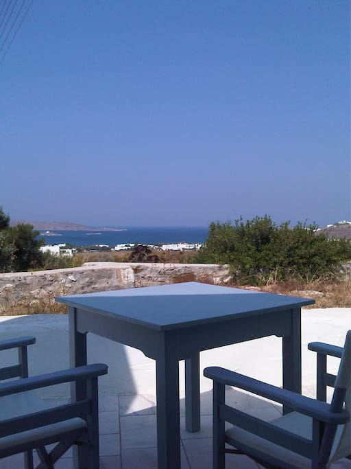 View from the second terrasse behind the house, fully private