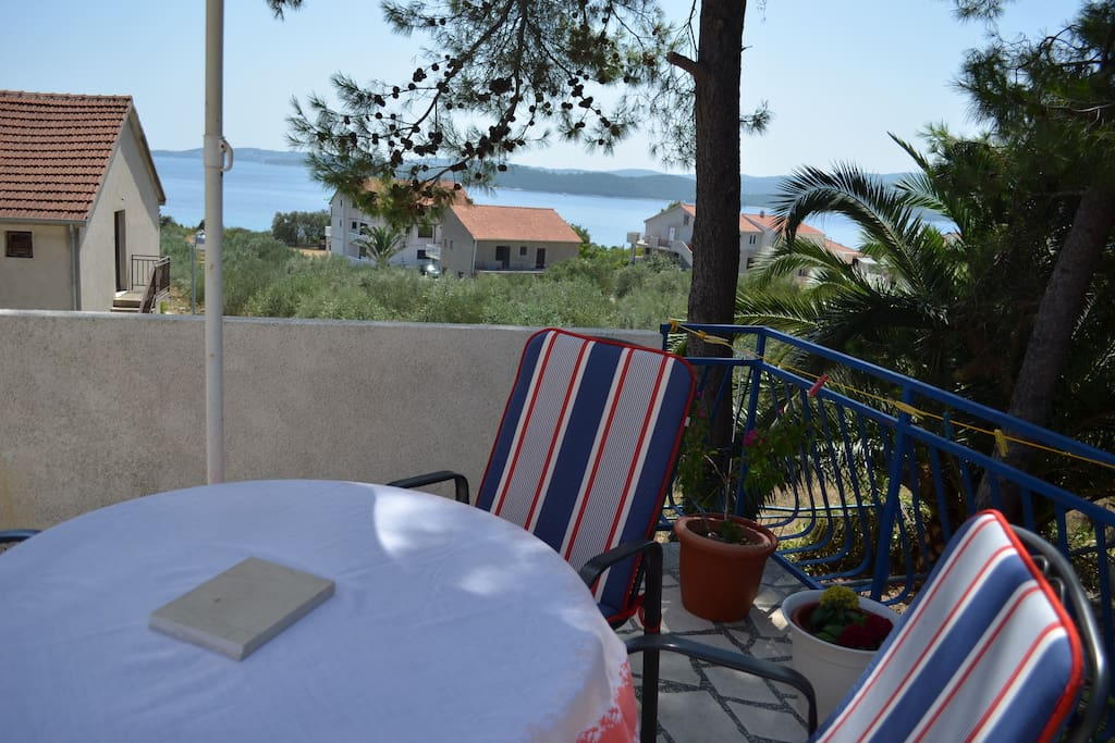 Our terrace, perfect for a breakfast with a view.