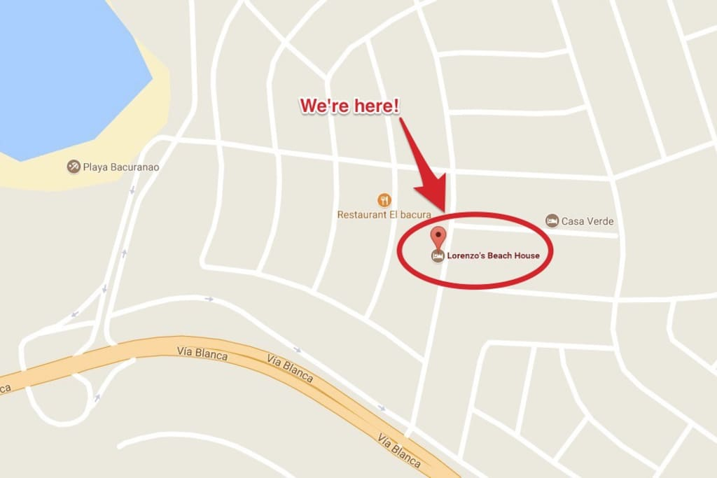You can see our location from Google Maps, just search:Lorenzo's Beach House,havana,cuba. And you will find us in the maps!