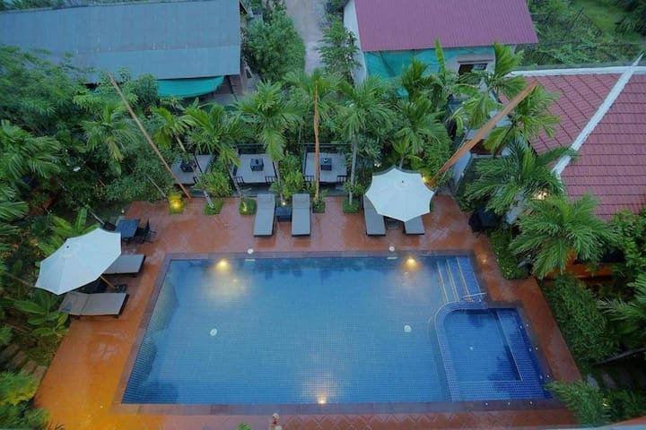 Areca villa Private Twin Room in City Center
