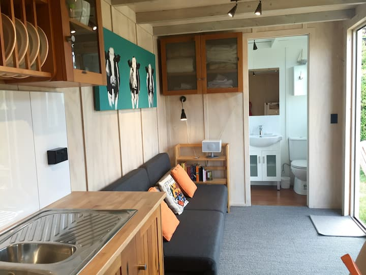 Converted Shipping Container Studio at the beach.