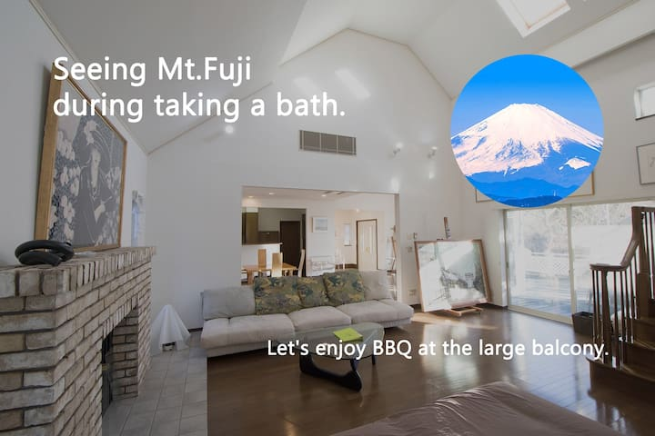 Mt. Fuji large balcony wood villa - 裾野市 - Villa