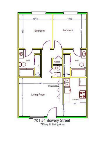 1 Bdrm/1 Bthrm in 2Bd/Bth Apartment - Iowa City - Apartment