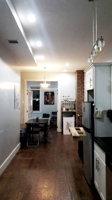 Communal Space: Full Kitchen, Dining Room Table and Storage