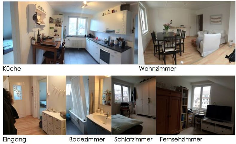 Cosy room close to the nature - Pratteln - Apartamento
