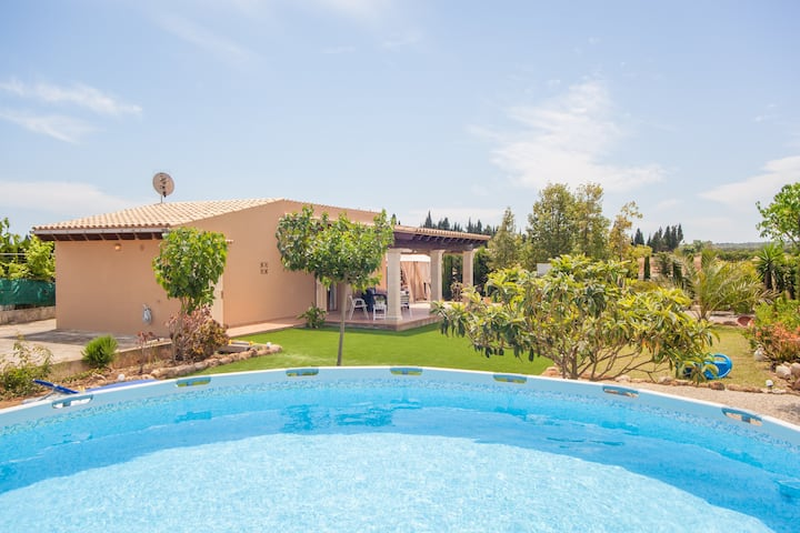SES CANYES - Apartment mit privaten Pool in MURO.