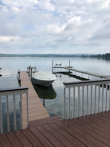 Private dock off of deck area