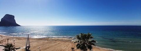 Magníficas vistas a la playa y el Peñón de Ifach