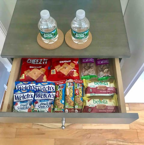 Complimentary snack drawer for you to enjoy!