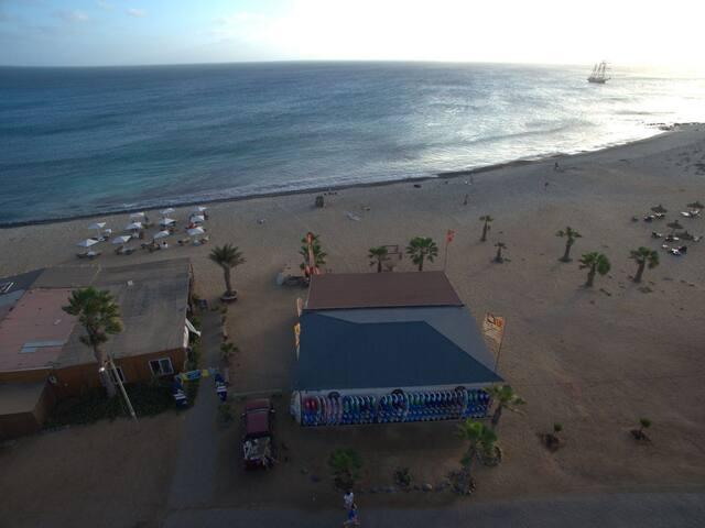 Windsurf and kitesurf centres at Antonio Sousa beach, two minutes walk from the apartment
