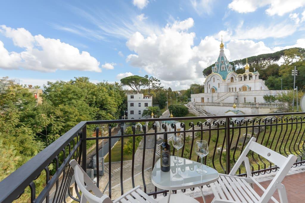 Visuale dal balcone della Chiesa Ortodossa di Santa Caterina