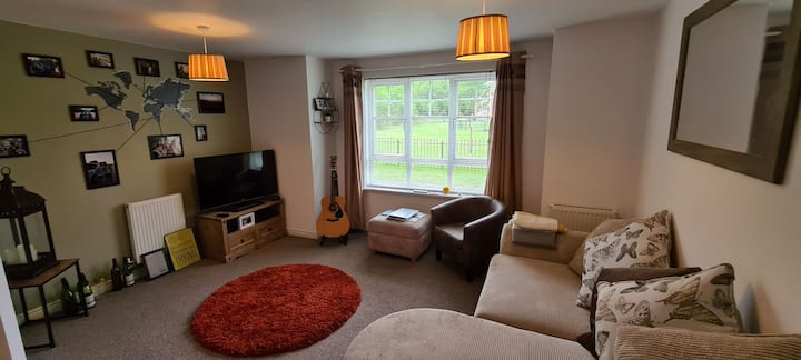 Lovely spare bedroom in a warm and cosy apartment