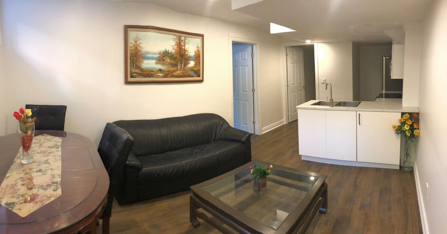 New renovated one bedroom apartment basement