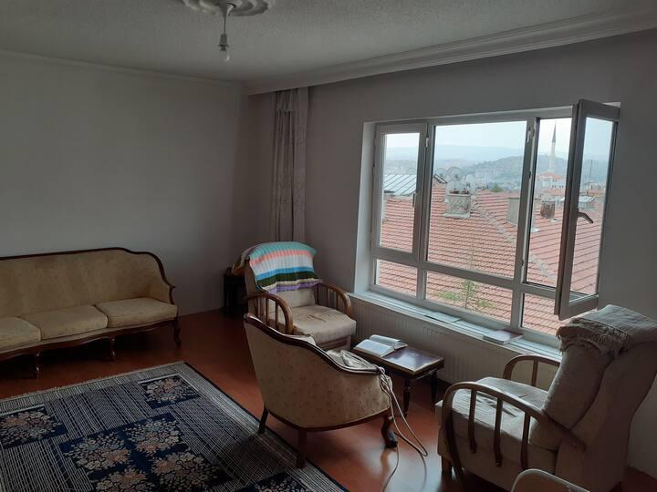 Merkezi konumda, Ankara manzaralı, özel oda.