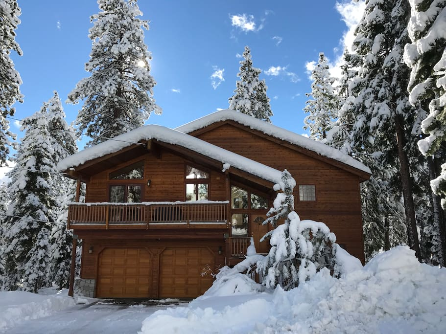 Snow covered cabin!