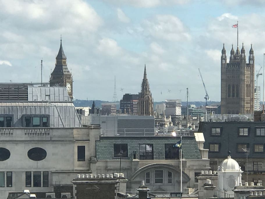 View from the window on Big Ben