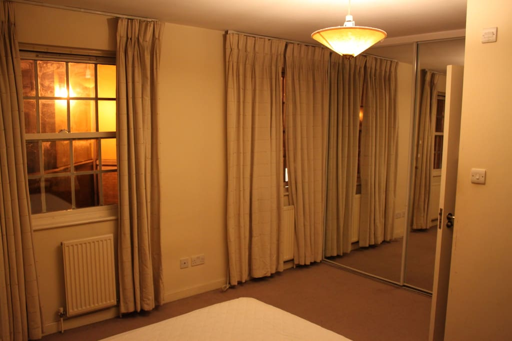 Bedroom again; one sliding door recently derailed and was removed