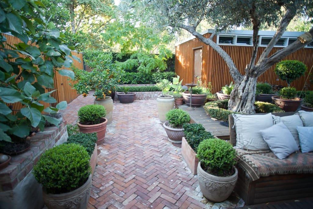 Tranquil garden to enjoy.