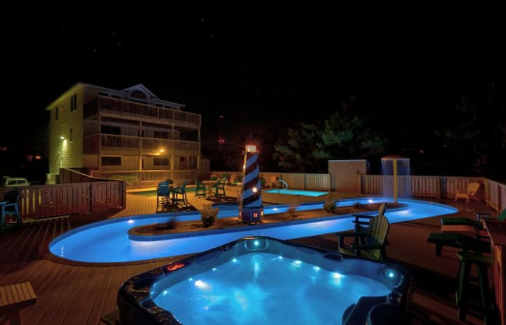 Rio Rodanthe , Private Waterpark, Oceanfront Home